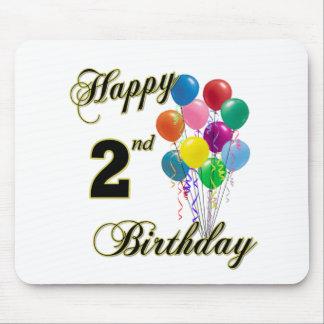 2do cumpleaños feliz Mousepad Alfombrillas De Ratón