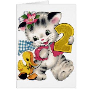 2do cumpleaños feliz tarjeta de felicitación