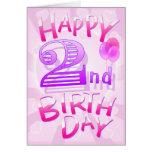 2do cumpleaños feliz tarjetón