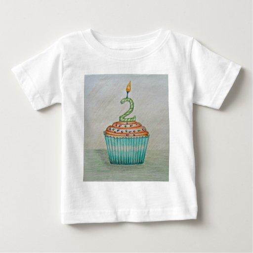 2do cumpleaños playera para bebé