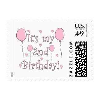 2do Cumpleaños Sellos Postales