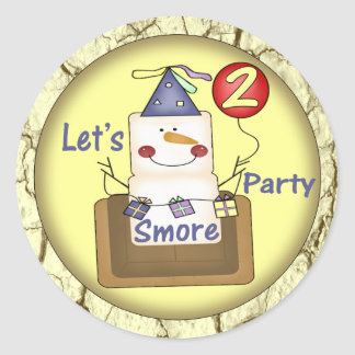 2do Cumpleaños Smores Etiquetas