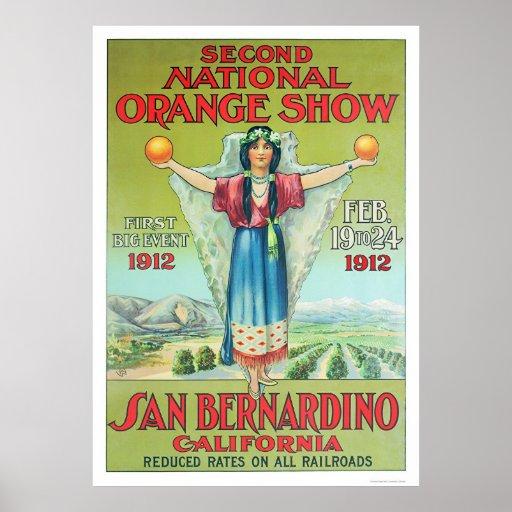 2do Demostración anaranjada nacional 1912 Poster