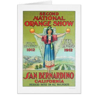 2do Demostración anaranjada nacional 1912 Tarjeta De Felicitación