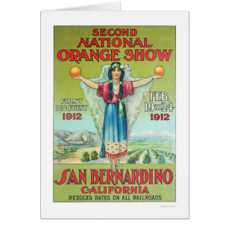 2do Demostración anaranjada nacional 1912 Tarjetón