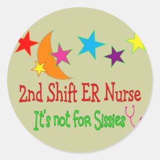 "2do Desplace a la enfermera del ER ""que no está Etiquetas Redondas"