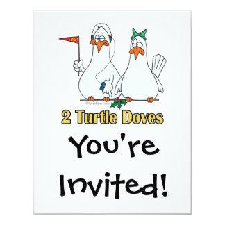 2do día de dos palomas de la tortuga en segundo anuncio personalizado