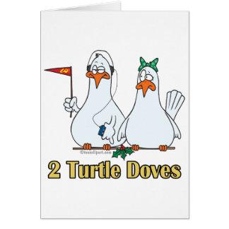 2do día de dos palomas de la tortuga en segundo lu felicitacion
