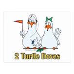 2do día de dos palomas de la tortuga en segundo lu tarjetas postales