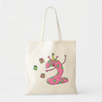 2do dibujo animado del cumpleaños de los chicas en bolsas