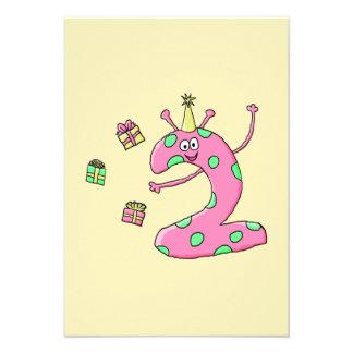 2do dibujo animado del cumpleaños de los chicas en anuncios