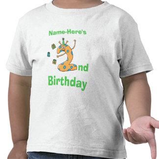 2do dibujo animado del cumpleaños Nombre de encar Camisetas