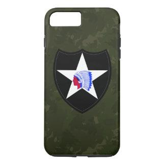 """2do División de infantería """"Camo verde oscuro """" Funda iPhone 7 Plus"""