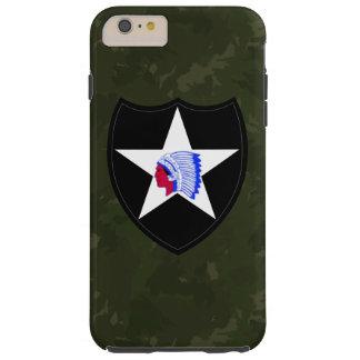 """2do División de infantería """"Camo verde oscuro """" Funda Resistente iPhone 6 Plus"""