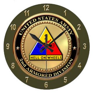 2do División de la armadura Reloj Redondo Grande