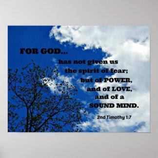 2do El 1:7 de Timothy para dios no nos ha dado…. Póster