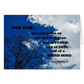 2do El 1:7 de Timothy para dios no nos ha dado…. Felicitacion
