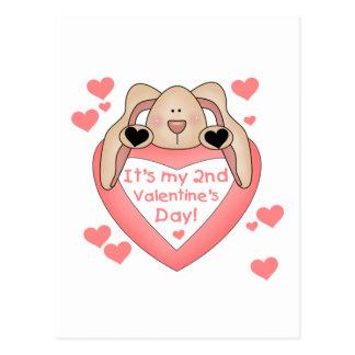 2do el día de San Valentín del conejito Postales