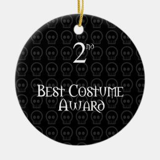 2do El lugar B&W Morph el mejor premio del traje Adorno Navideño Redondo De Cerámica