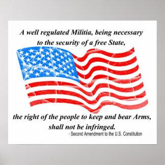 2do Enmienda al poster de la constitución Póster