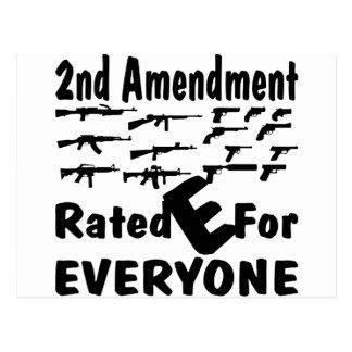 2do Enmienda E clasificada para cada uno Postal