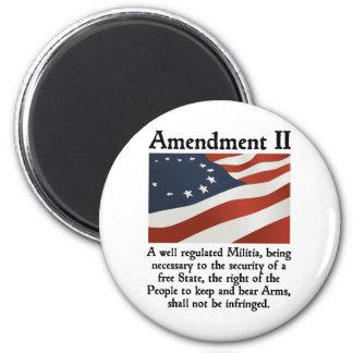 2do Enmienda Imán Redondo 5 Cm