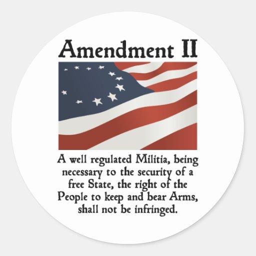 2do Enmienda Pegatina Redonda