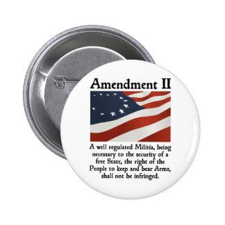2do Enmienda Pins