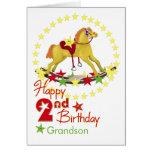 2do Estrellas del caballo mecedora del cumpleaños Tarjetón