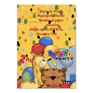 """2do Fiesta de cumpleaños Invitación 3.5"""" X 5"""""""