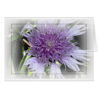 2do Flor púrpura entintada Tarjeta De Felicitación