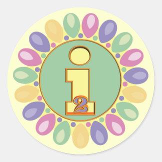 2do Globos del cumpleaños Pegatinas Redondas