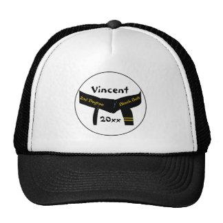 2do gorra de encargo de la correa negra del grado