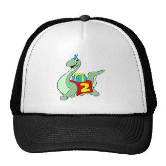 2do Gorra del dinosaurio del cumpleaños