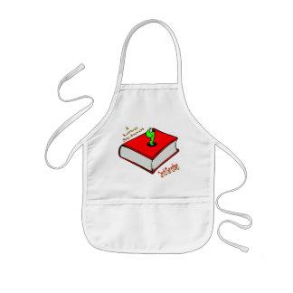 2do graduador del ratón de biblioteca - escuela delantal infantil