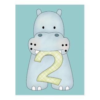 2do Hipopótamo del cumpleaños Tarjeta Postal