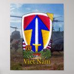 2do Impresión del remiendo de la guerra de Vietnam Poster