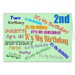 2do Invitaciones de la fiesta de cumpleaños Felicitacion