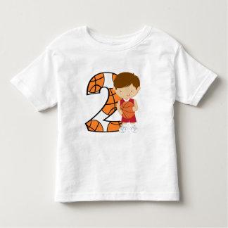 2do Jugador de básquet rojo y blanco del Tee Shirts