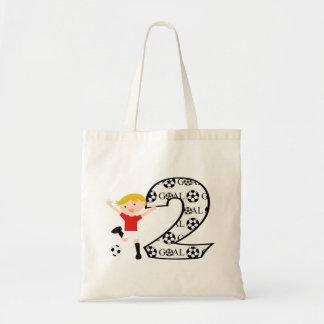 2do La bolsa de asas roja y blanca del cumpleaños
