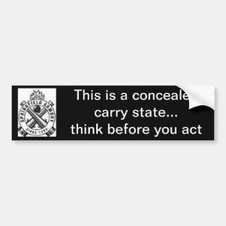 2do La enmienda/el control de armas/encubierto lle Pegatina Para Auto