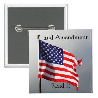 2do La enmienda lo leyó botón Pin