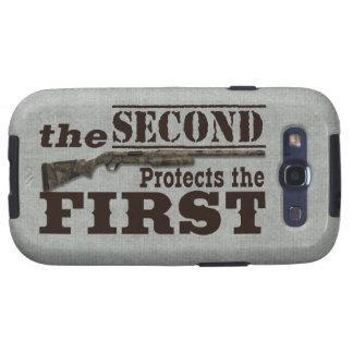 2do La enmienda protege la 1ra enmienda Galaxy S3 Cárcasa