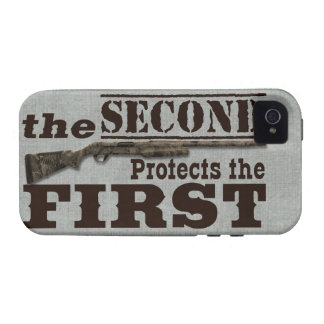 2do La enmienda protege la 1ra enmienda Vibe iPhone 4 Carcasas