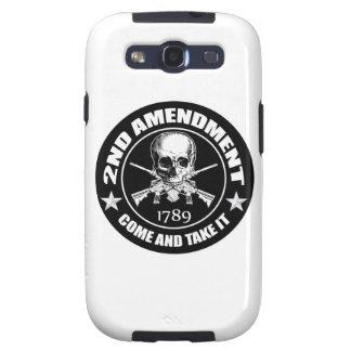 2do La enmienda viene tomarle el cráneo y AR Galaxy S3 Cárcasa