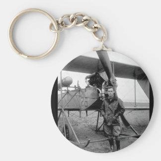 2do Lieut. Imagen de Lorenzo S. Churchill_War Llavero Redondo Tipo Pin