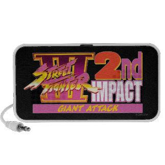 2do logotipo del impacto de Street Fighter III iPod Altavoz