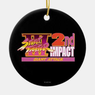 2do logotipo del impacto de Street Fighter III Ornamentos De Reyes