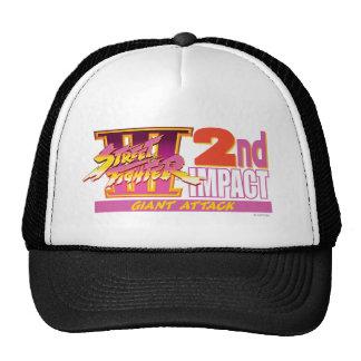 2do logotipo del impacto de Street Fighter III Gorros
