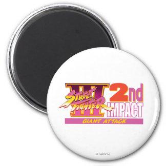 2do logotipo del impacto de Street Fighter III Imán Para Frigorifico